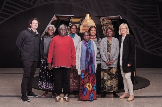 Designers Russel Koskela and Sasha Titchkosky present a display of pieces created as part of a collaboration between their studio and traditional Yolngu weavers from Elcho Island Arts in Arnhem Land.